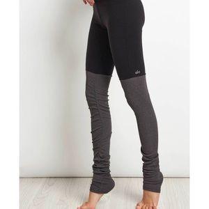 Alo Yoga Goddess black grey leggings XS